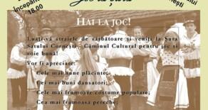 Joc la Șură – Șura satului  Cornești – Căminul Cultural